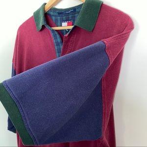 Vintage Tommy Hilfiger Colorblock Polo Men's XL